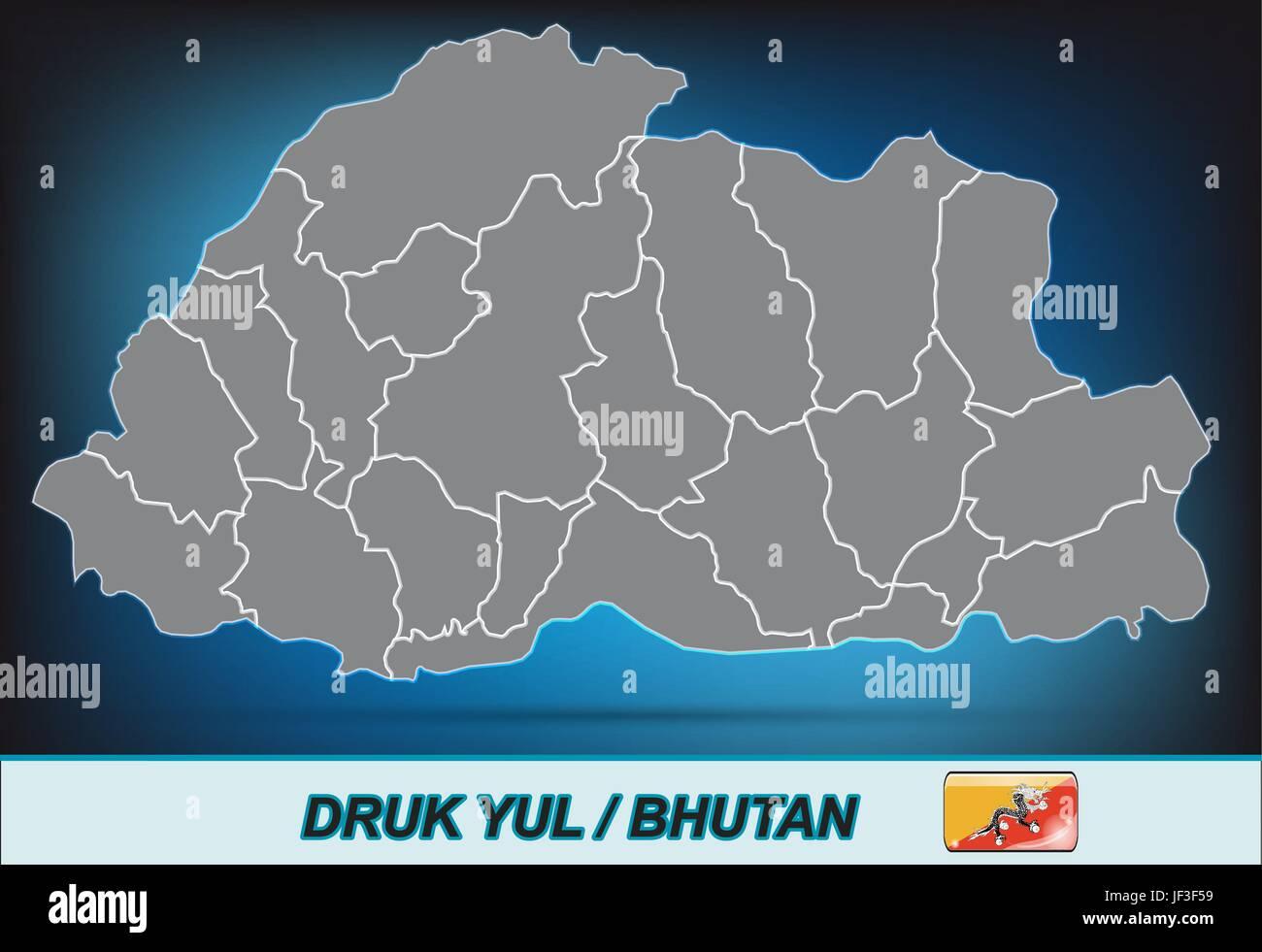 World Map Bhutan.Asia Card Bhutan Atlas Map Of The World Map Model Design