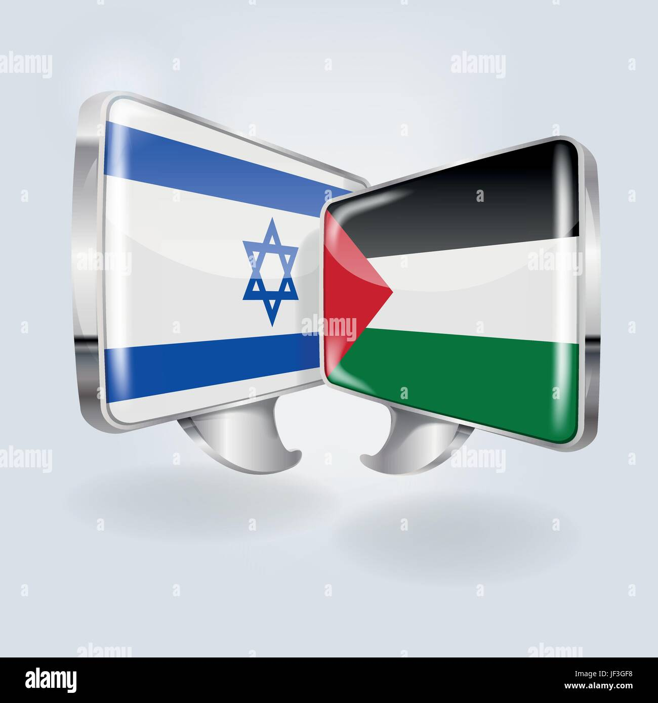 speech in the israeli and palestinian - Stock Image