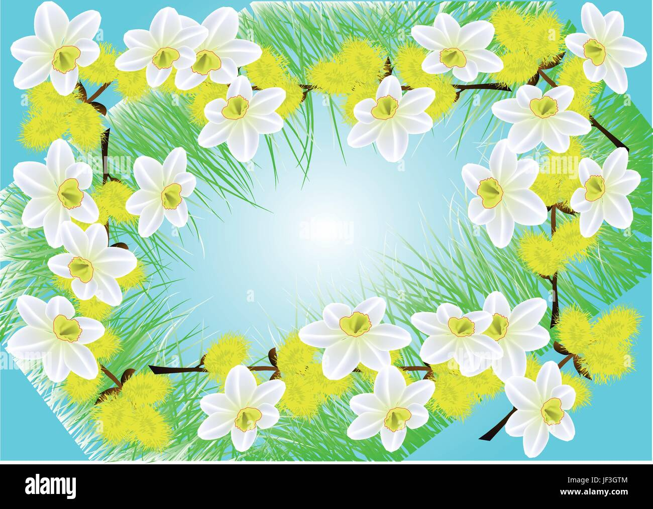 leaf, flower, plant, flowers, summer, summerly, spring, illustration, petal, - Stock Vector