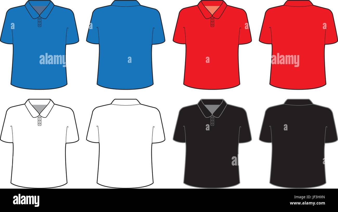 Polo shirt template t shirt Stock Vector Art & Illustration, Vector ...