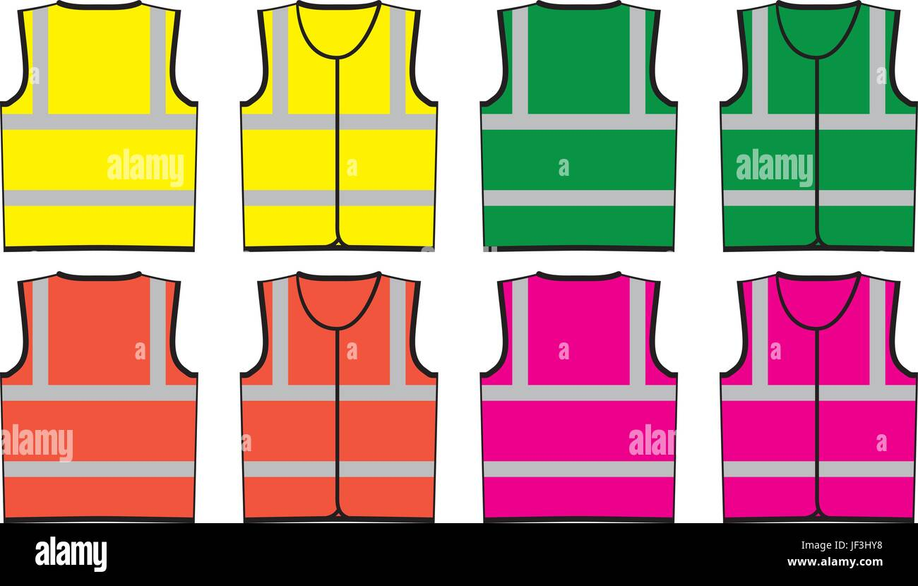 high viz visibility vest template front and back for proofs and
