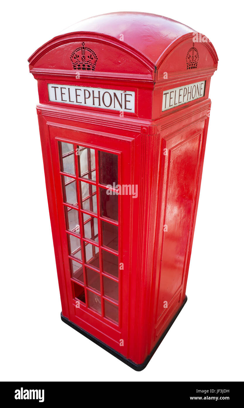 Phone cabine in London - Stock Image