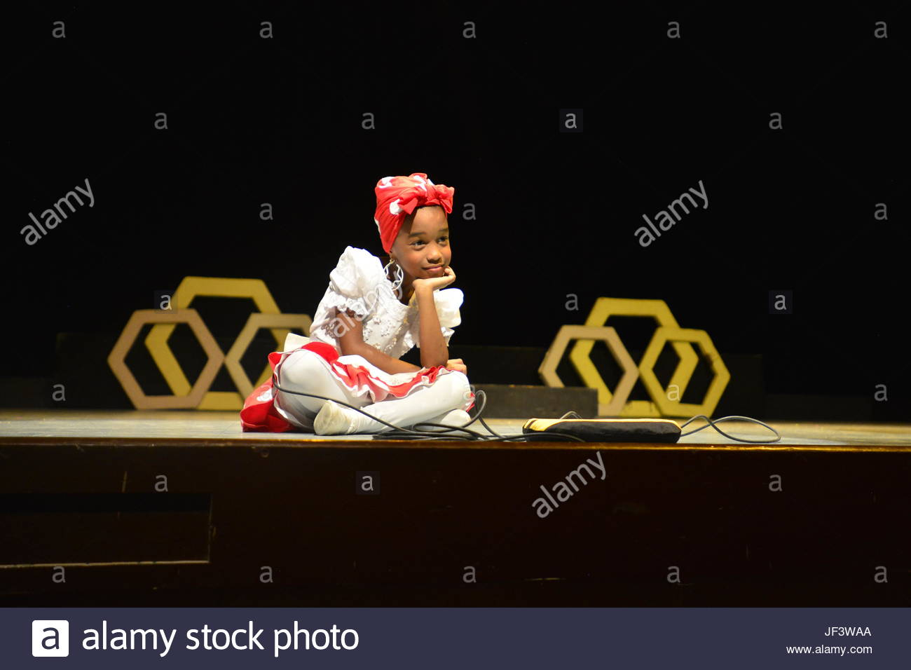 A young actress of La Colmenita, Children's Performance Theater. - Stock Image