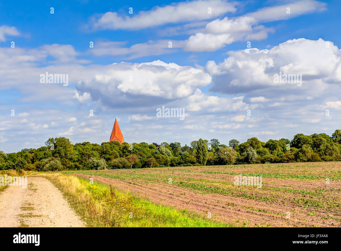 Agricultural area in Germany Stock Photo