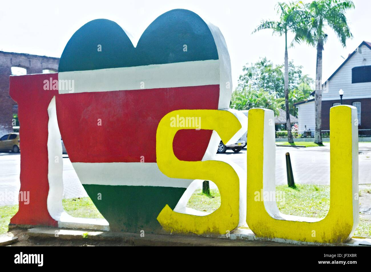 I Love Suriname - Stock Image