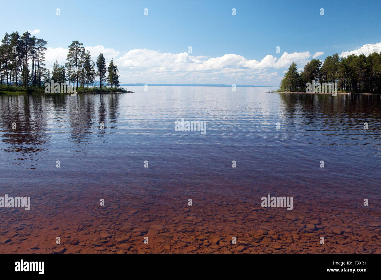 View of lake - Stock Image