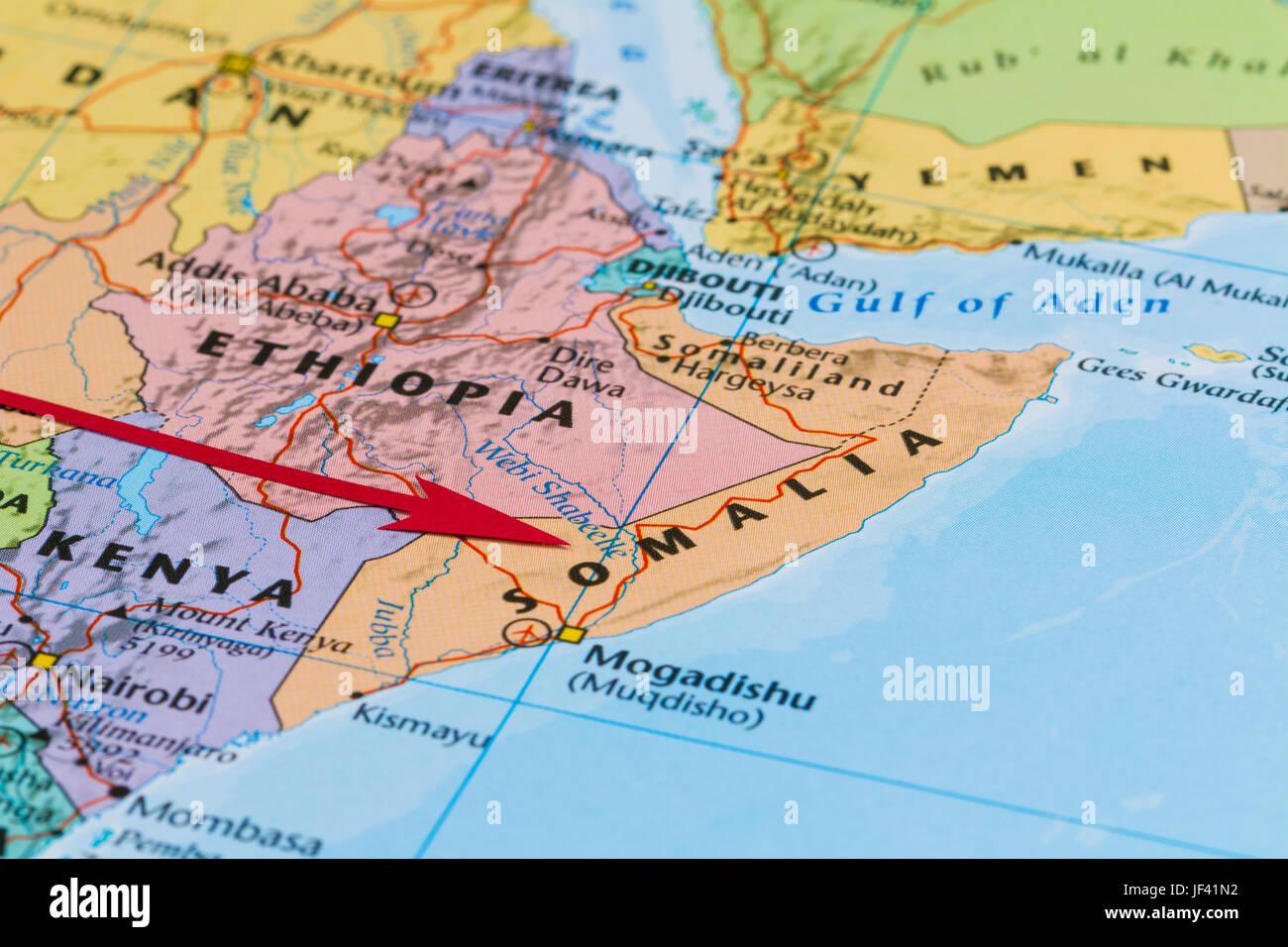 Map Mogadishu Somalia Map Mogadishu Stock Photos Map Mogadishu