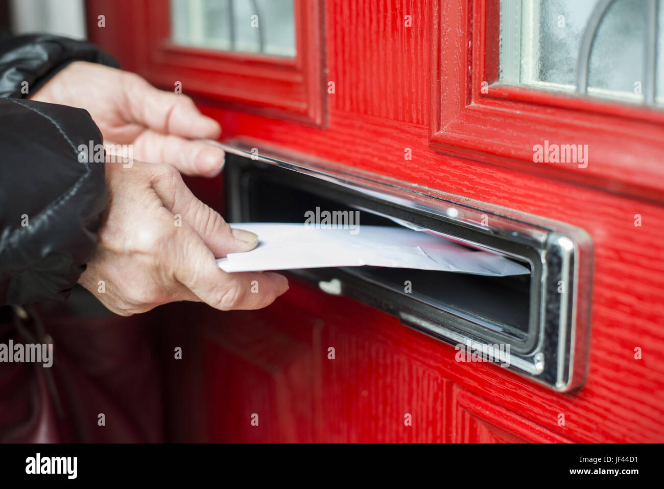 Letter in the mailbox - Stock Image