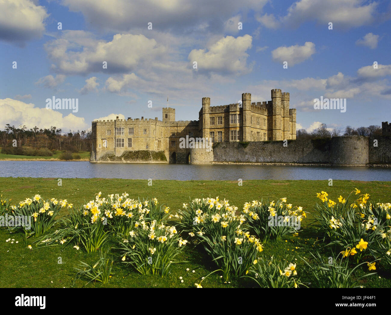 Springtime at Leeds Castle. Kent. England. UK - Stock Image