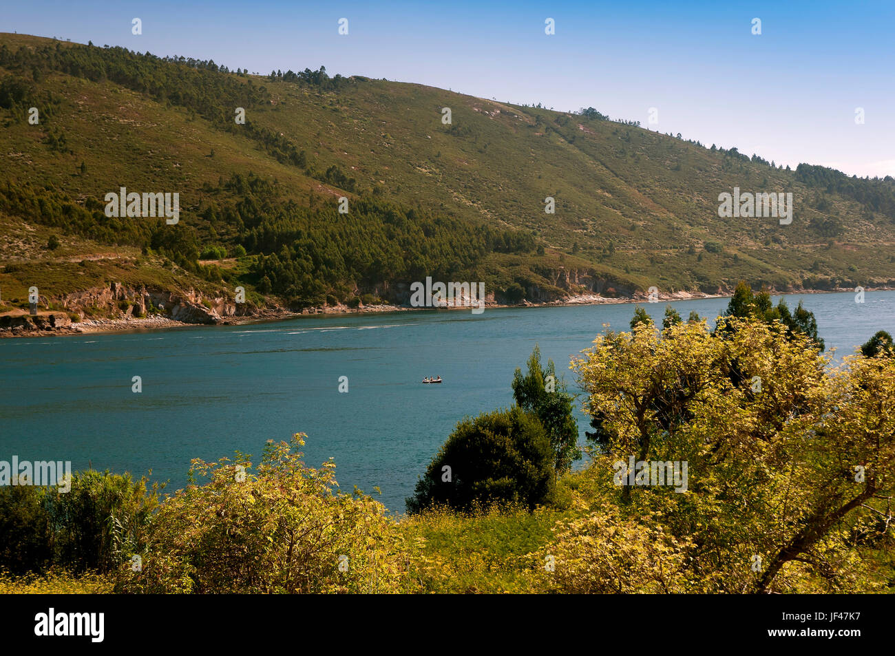 Estuary, Ferrol, La Coruna province, Region of Galicia, Spain, Europe - Stock Image