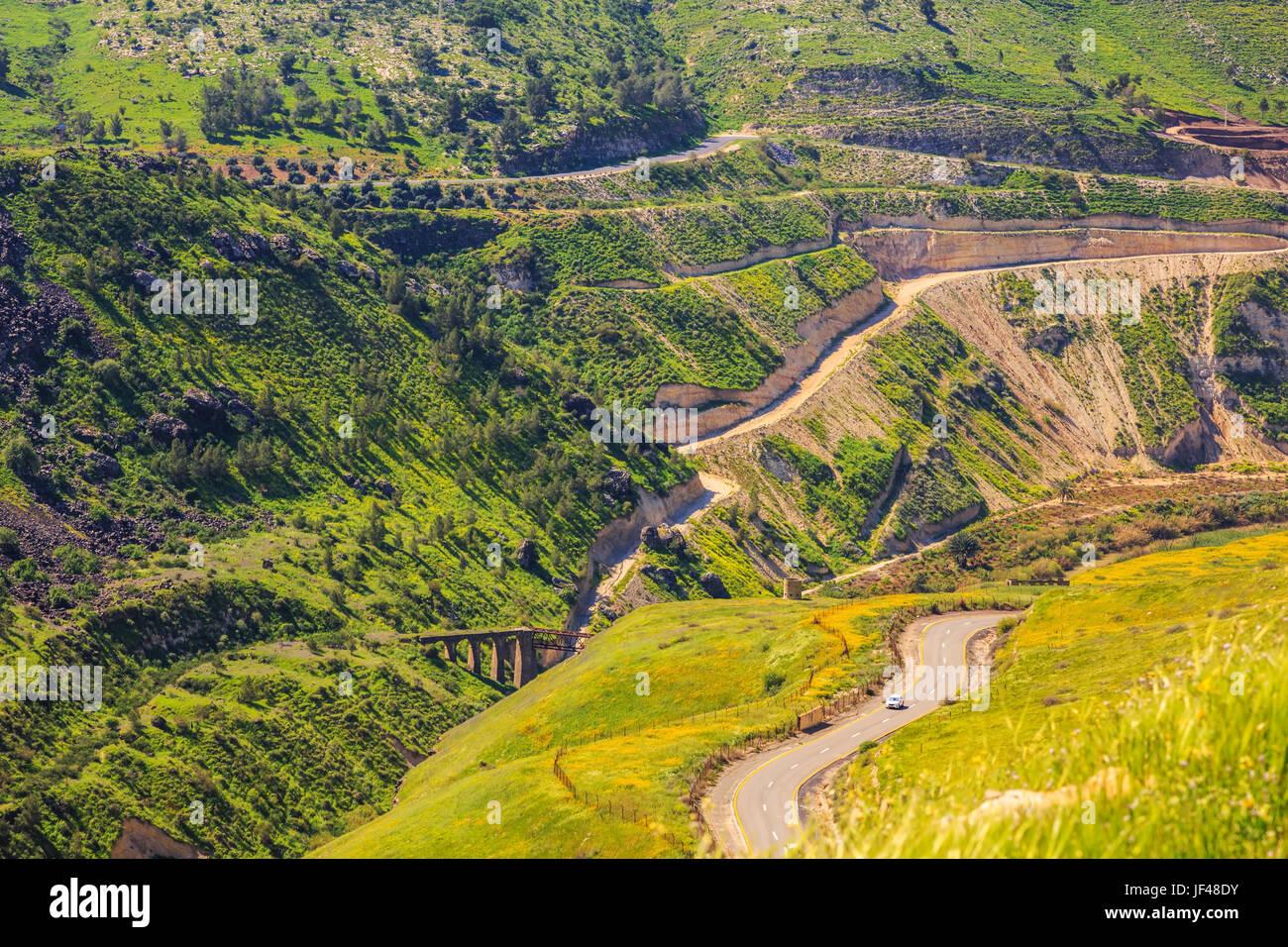 Israeli-Jordanian border - Stock Image