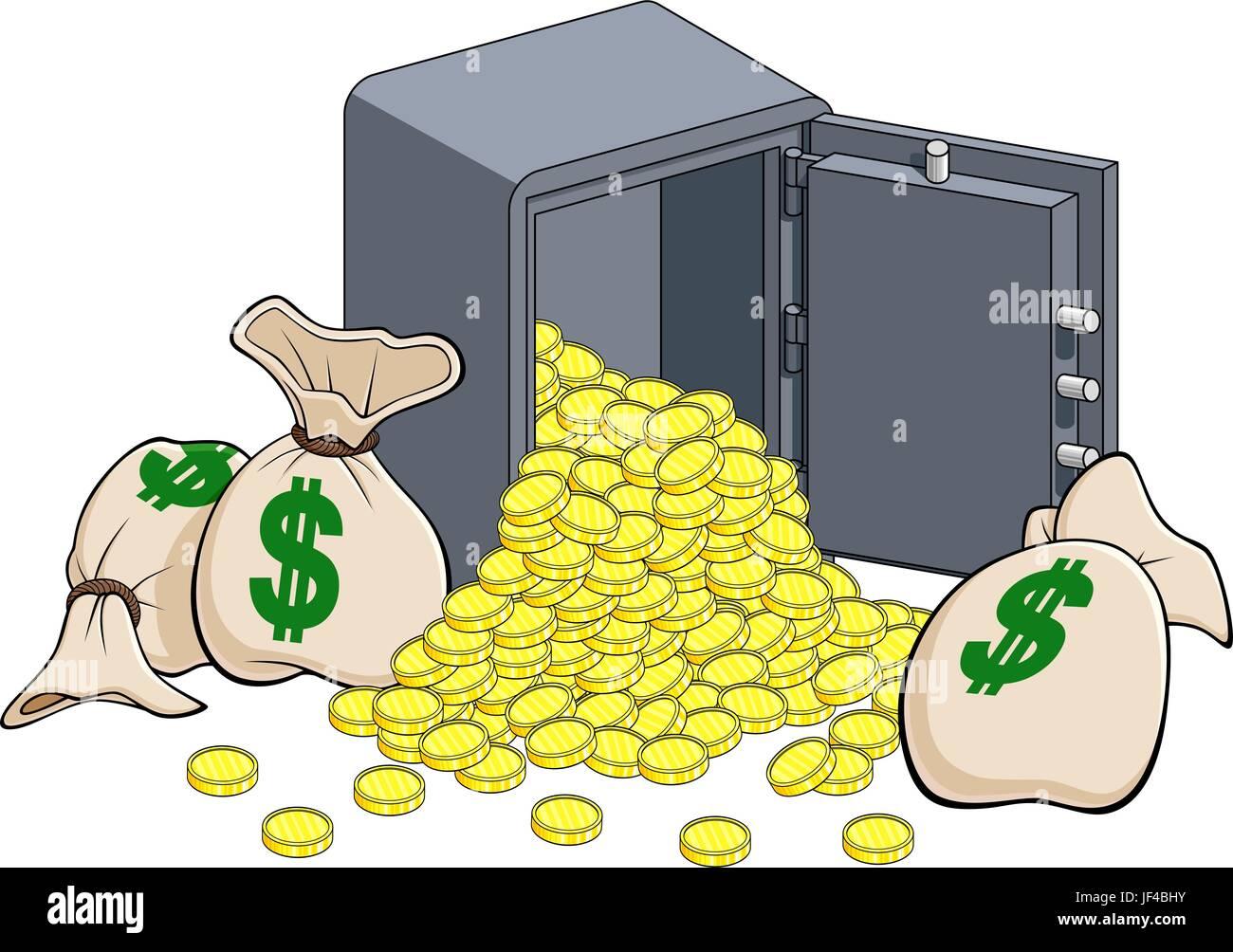 lending institution dollar - Stock Vector