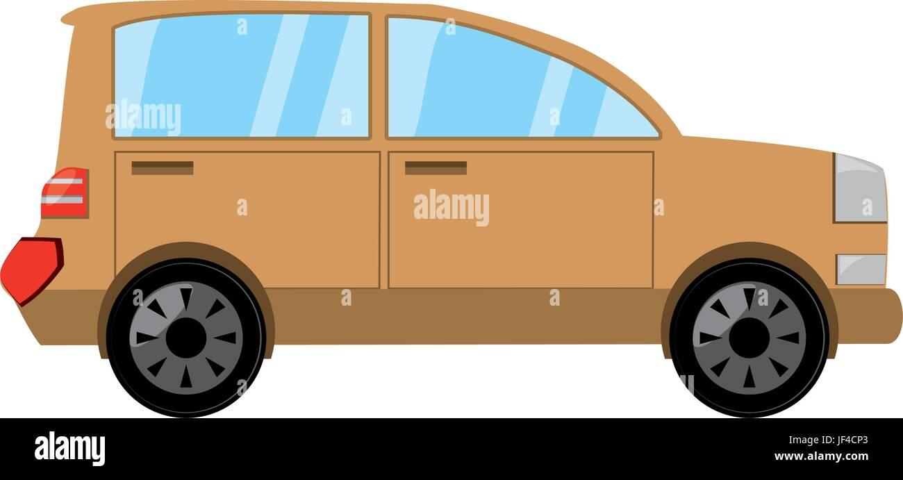 Familiar car vehicle - Stock Image