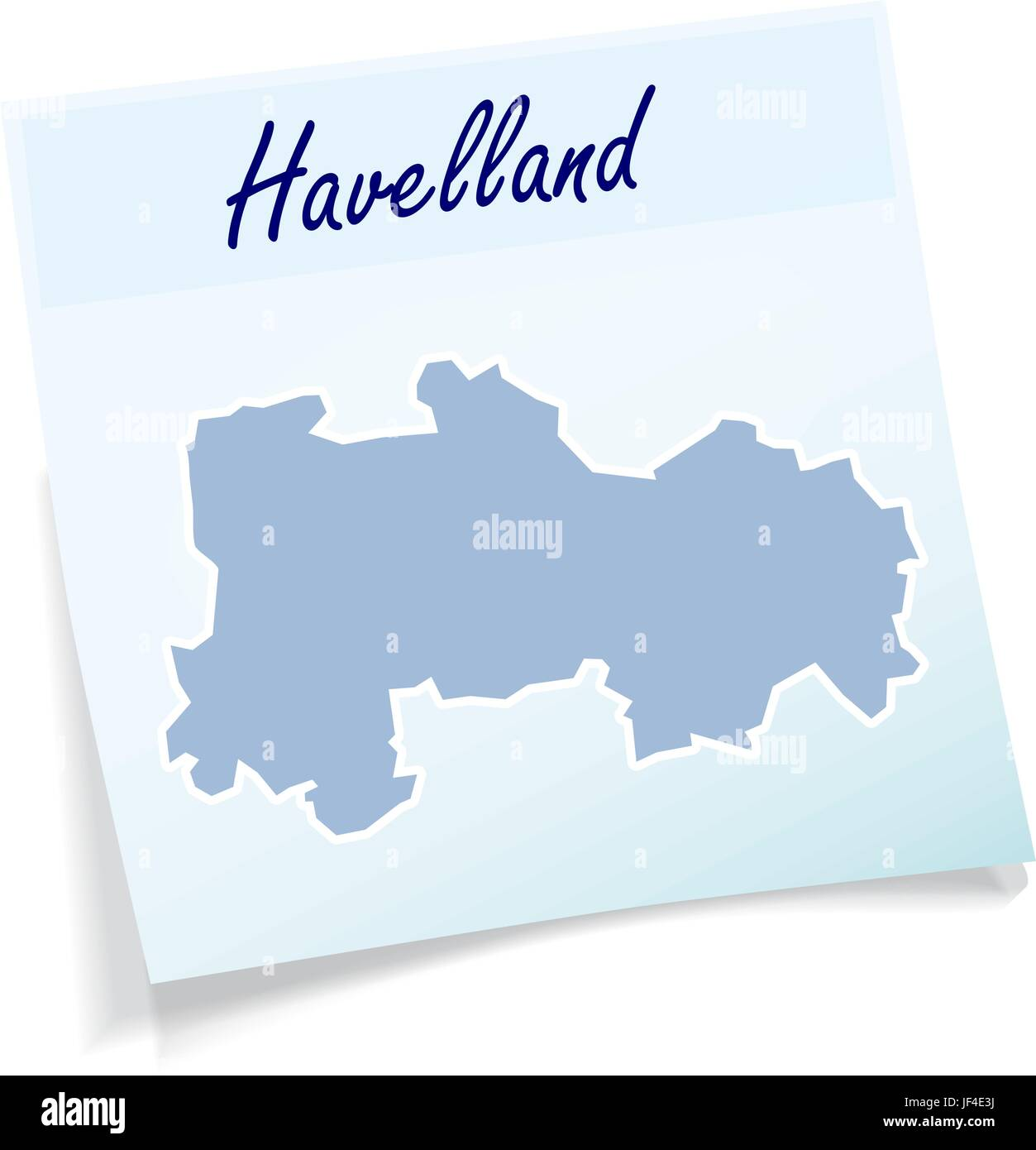 havelland as sticky note - Stock Vector
