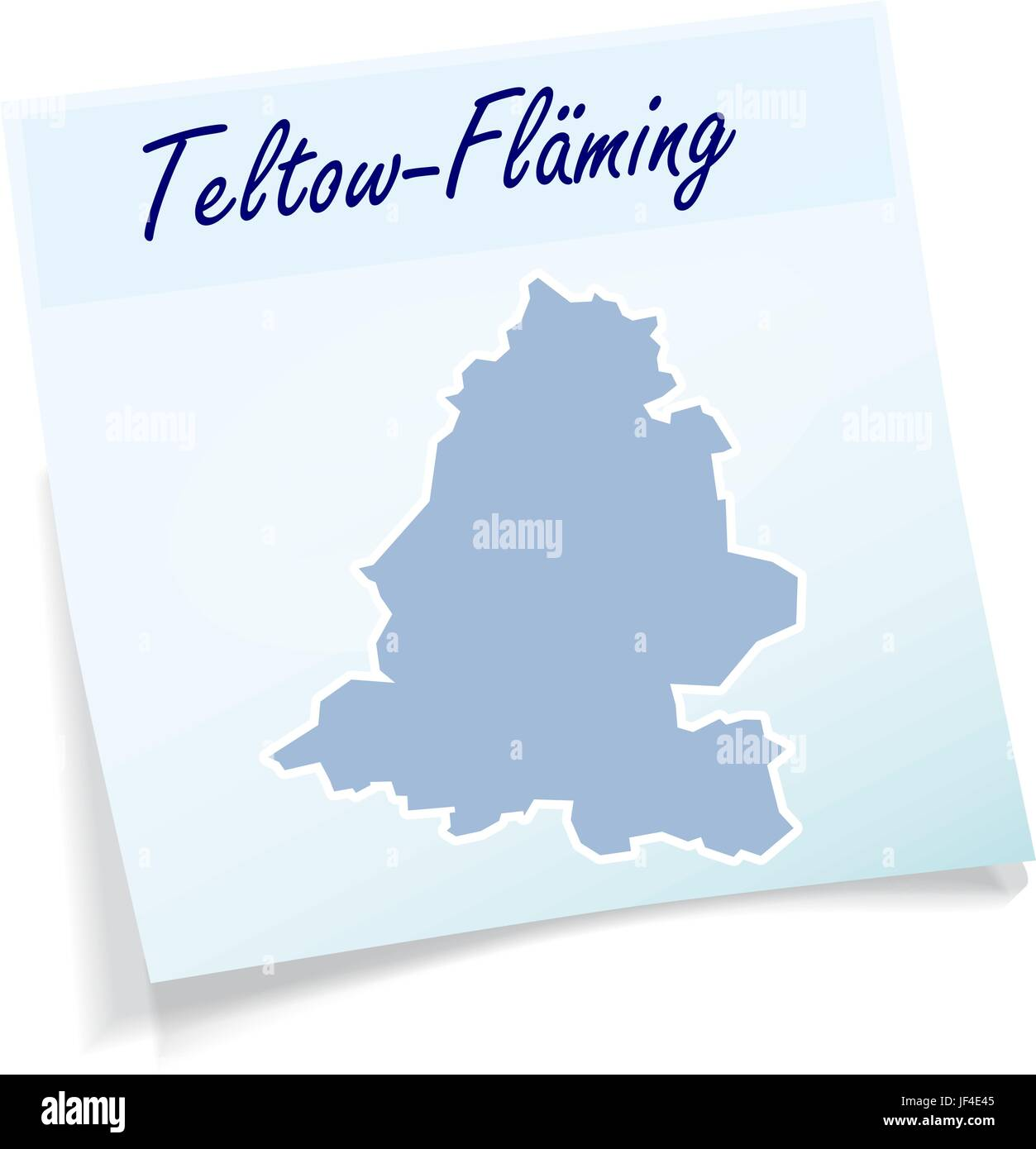 teltow-flaeming as sticky note Stock Vector
