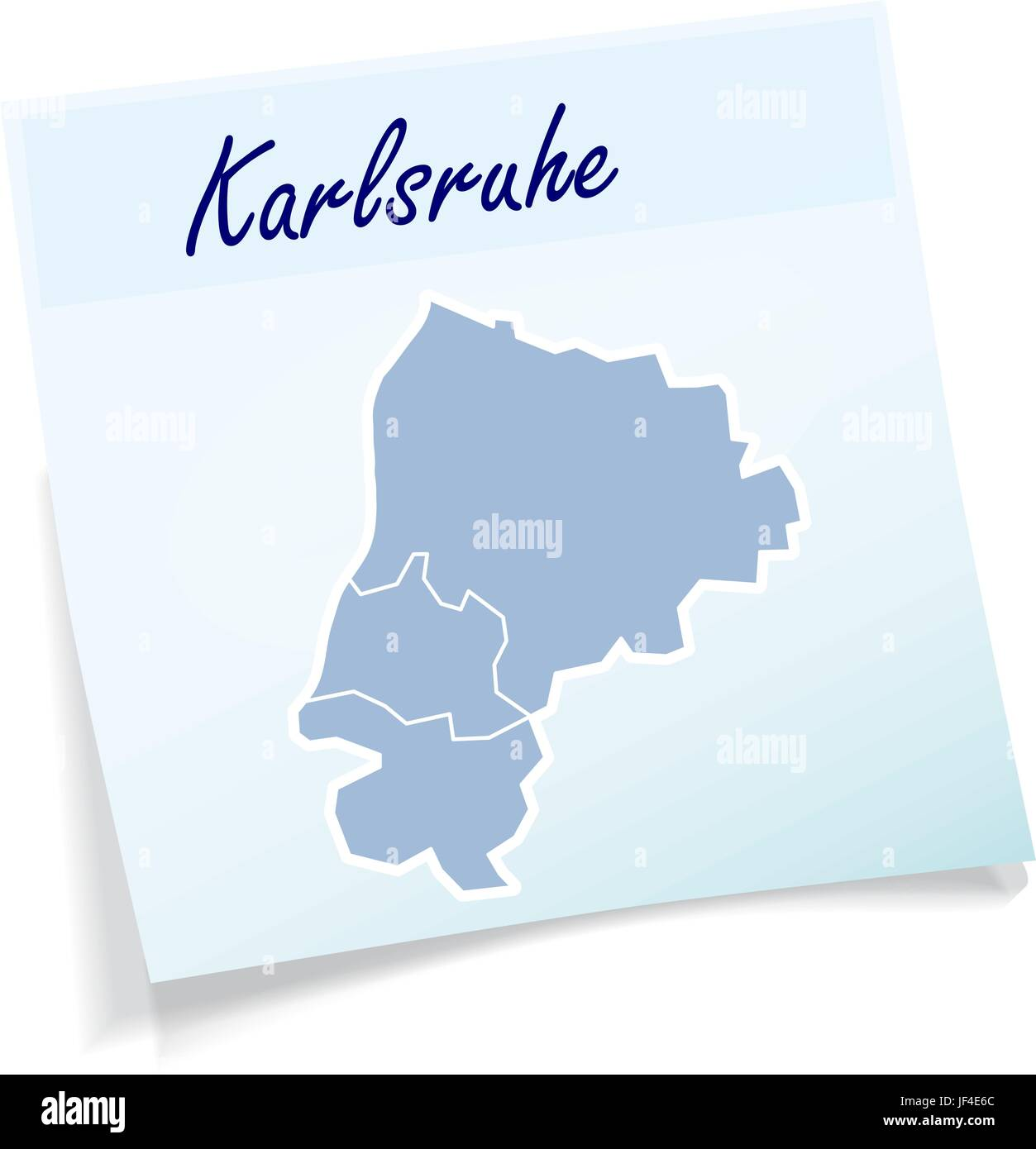 karlsruhe notes Stock Vector