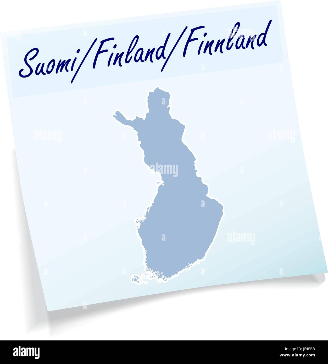 finland stickies - Stock Vector