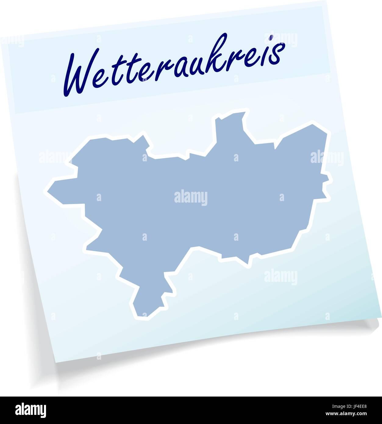 wetteraukreis as a notepad Stock Vector
