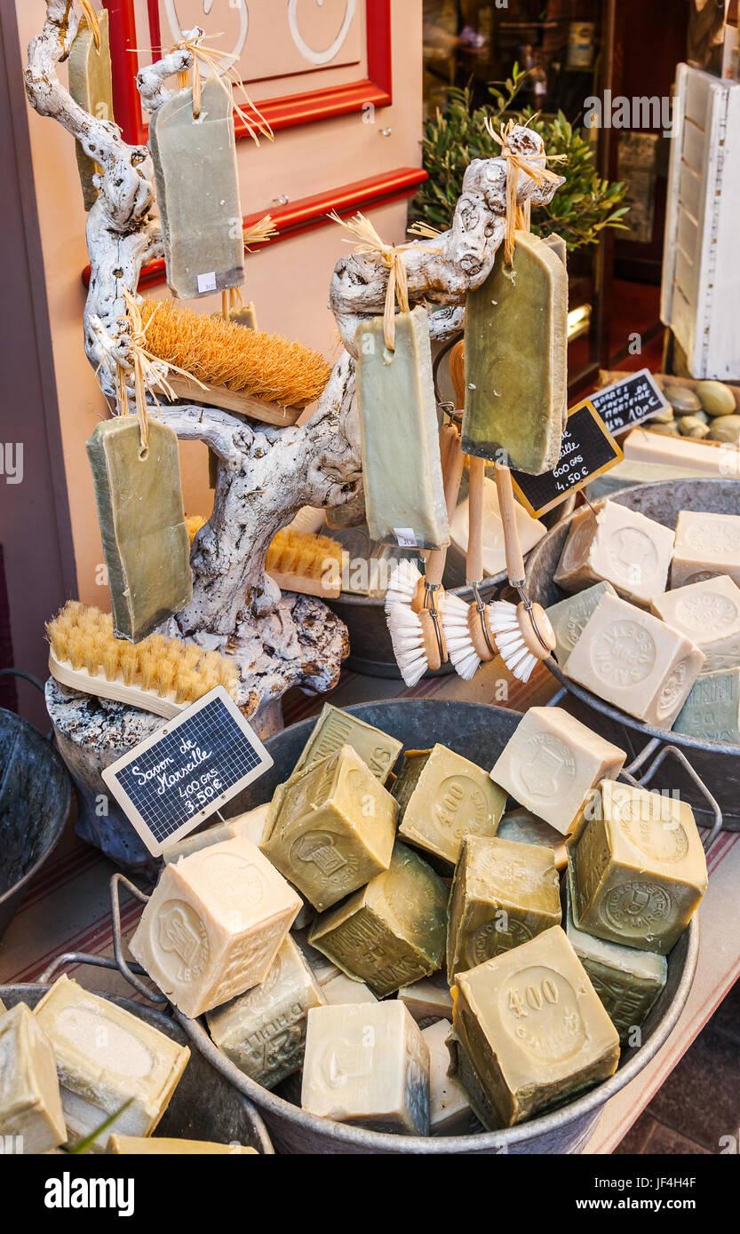 Handmade soap in Provence - Stock Image