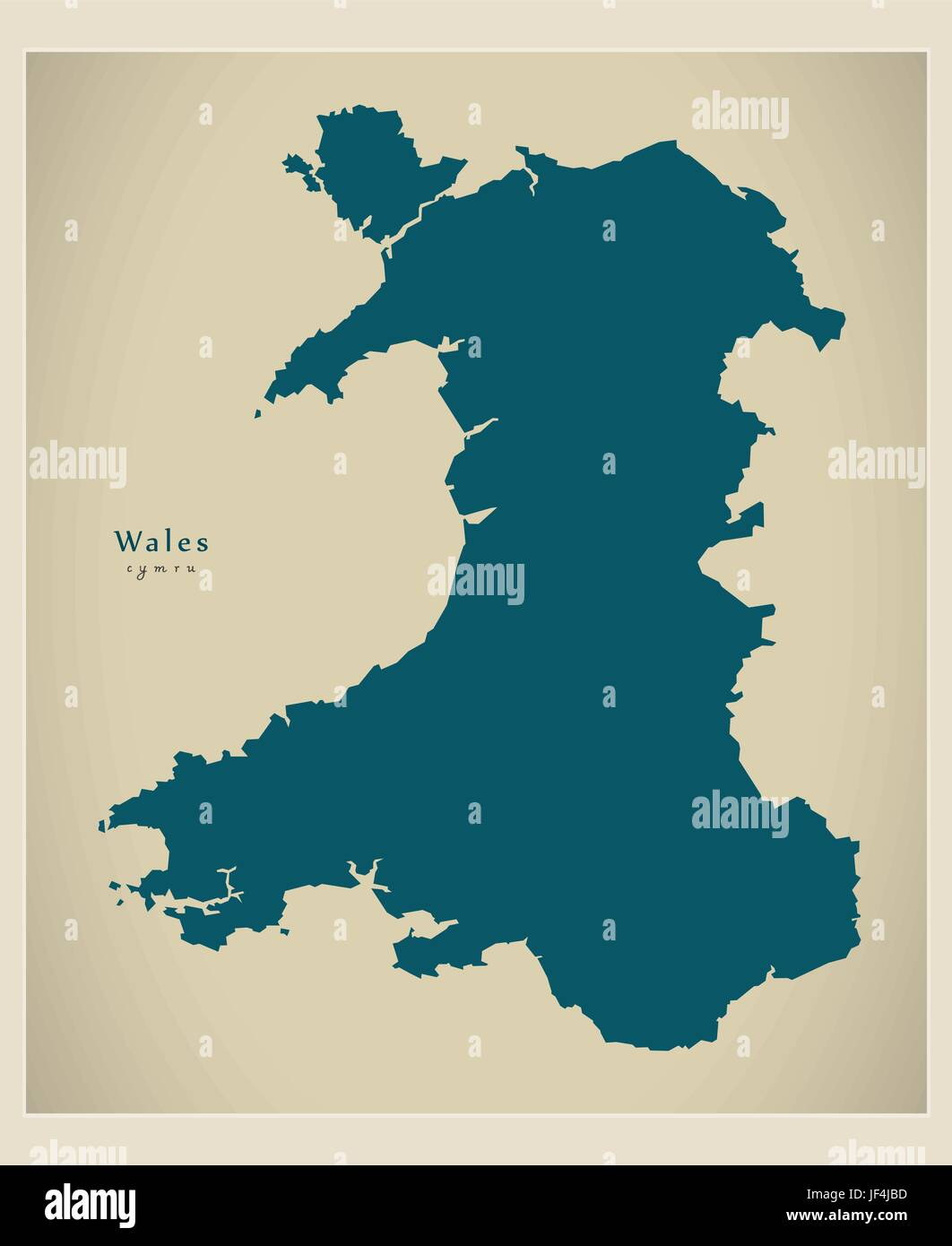 Modern map wales uk stock vector art illustration vector image modern map wales uk gumiabroncs Image collections
