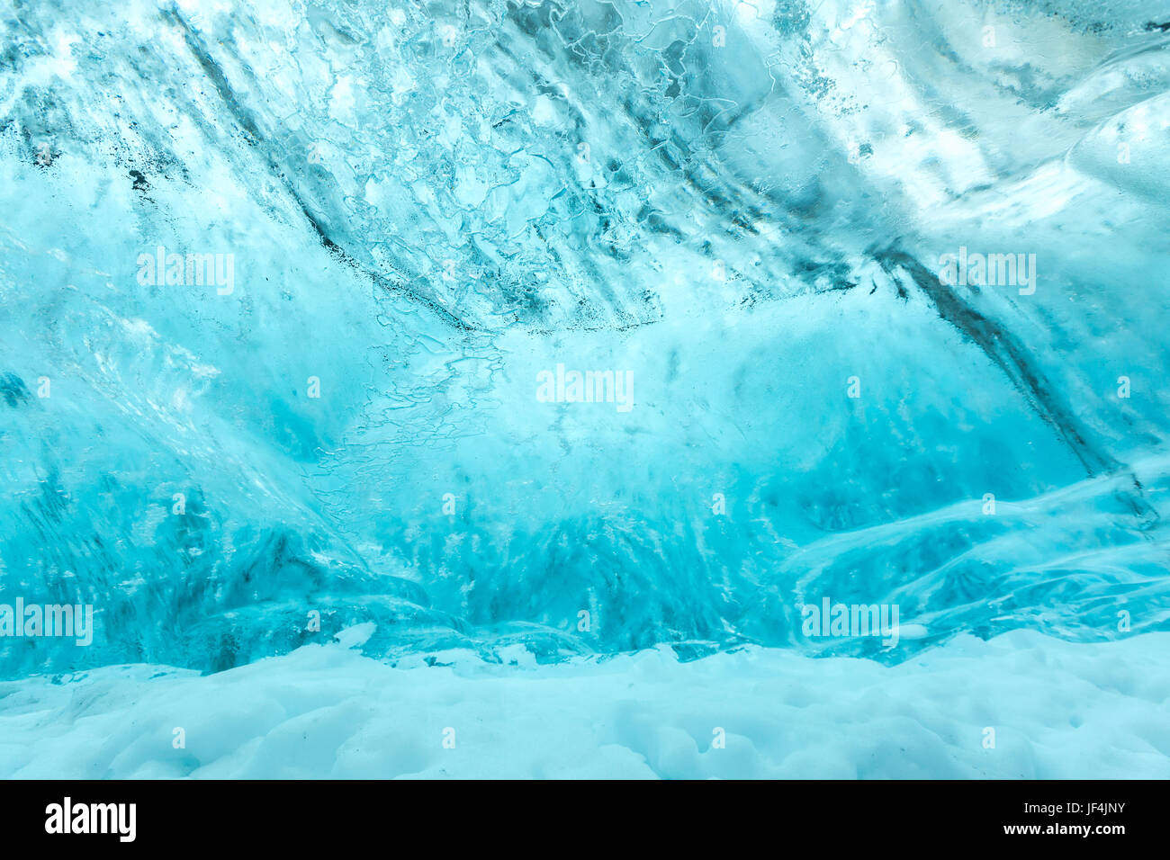 Ice wall texture - Stock Image