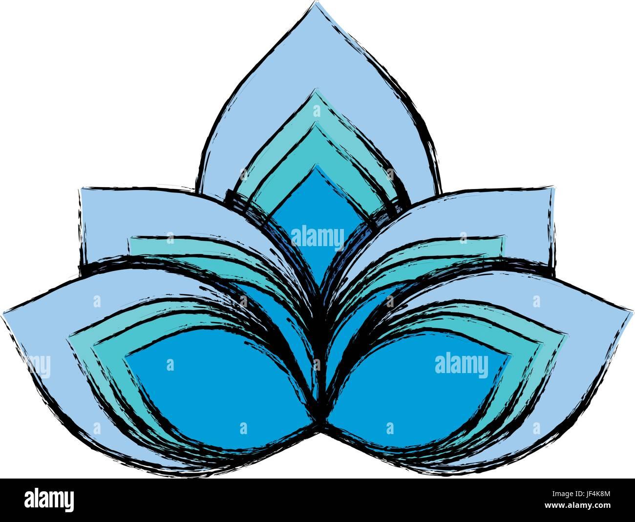 Lotus flower symbol stock vector art illustration vector image lotus flower symbol mightylinksfo
