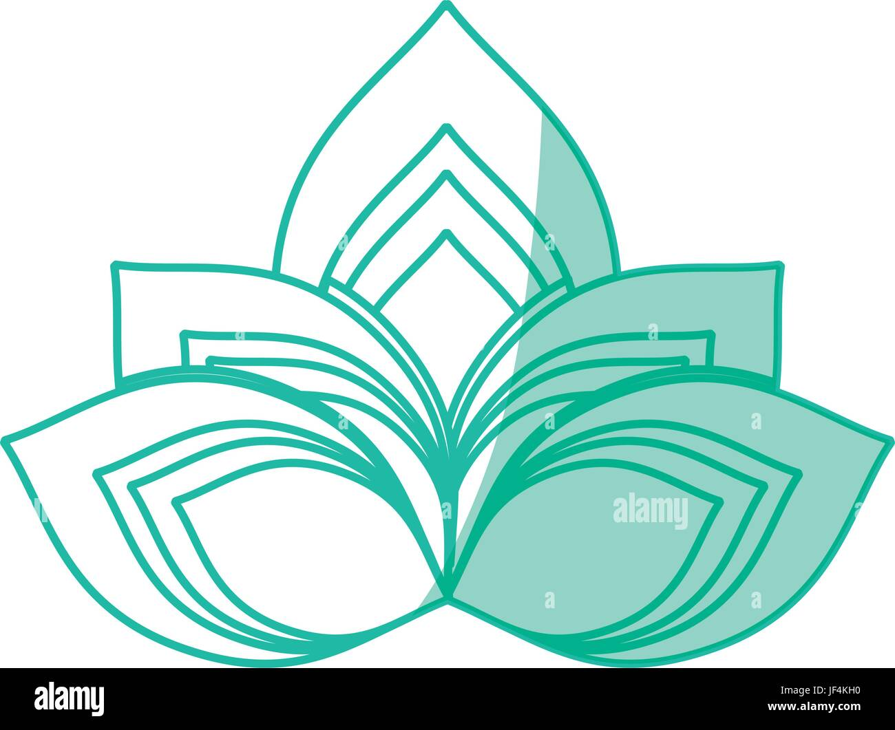 Lotus flower symbol stock vector art illustration vector image lotus flower symbol izmirmasajfo