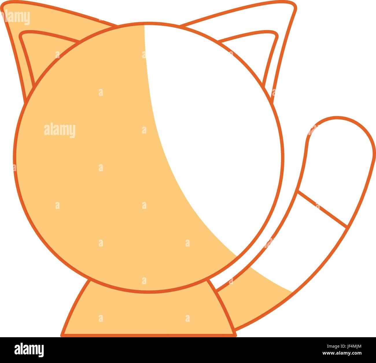 Cute cat cartoon - Stock Image