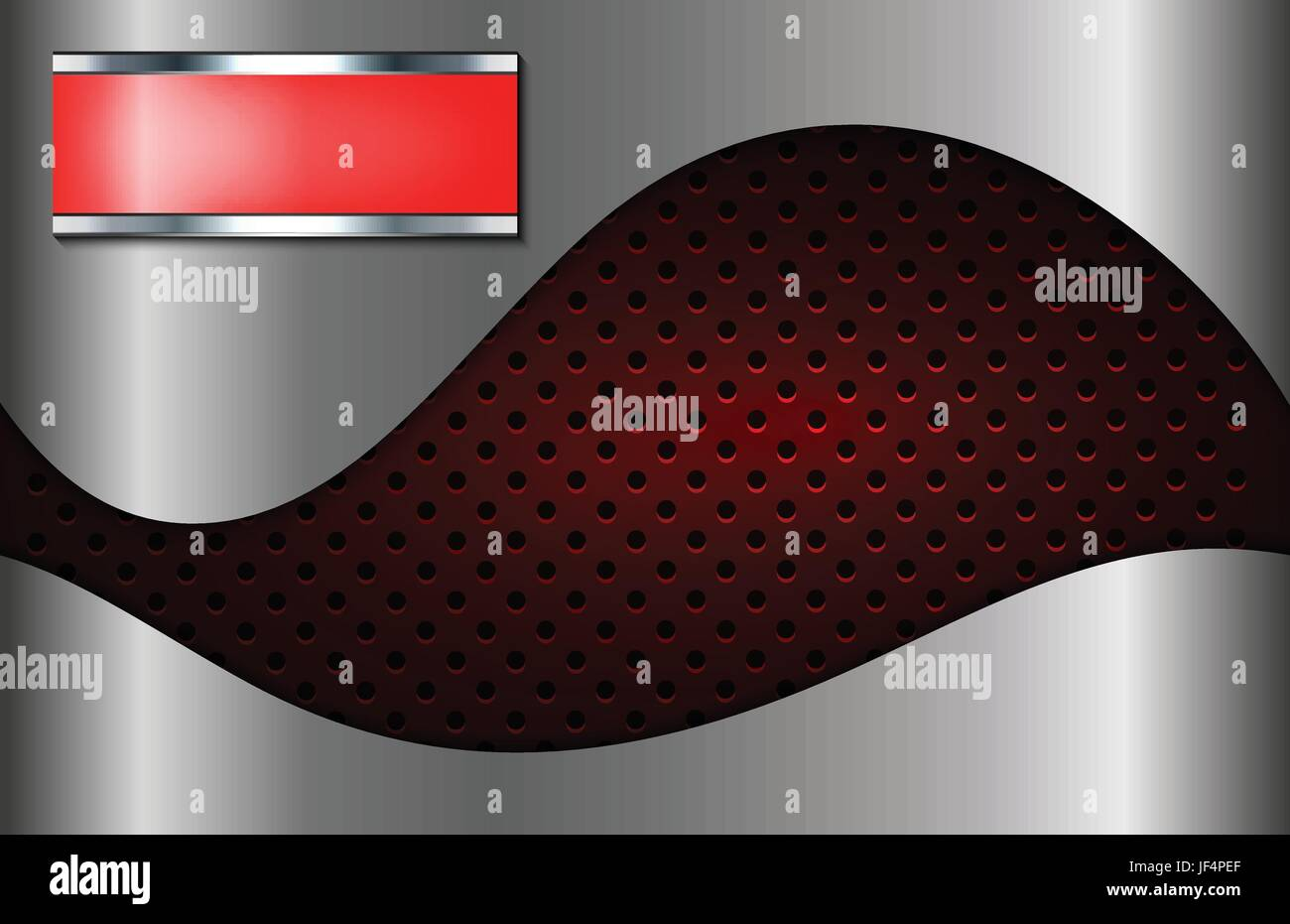 dots, banner, metallic, label, curve, shaddow, shadow, red, wave, dots, banner, - Stock Image