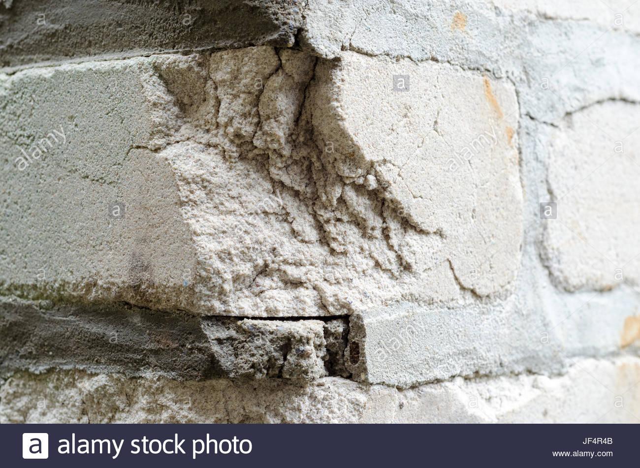 Broken wall - Stock Image