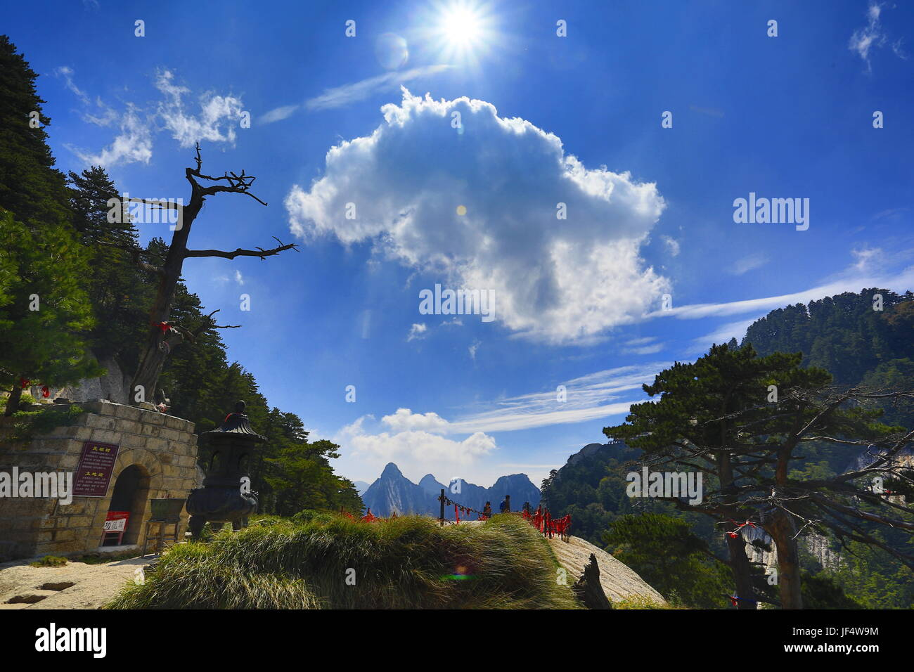 Weinan, Weinan, China. 28th June, 2017. Weinan, CHINA-September 26 2015: (EDITORIAL USE ONLY. CHINA OUT) Mount Hua - Stock Image