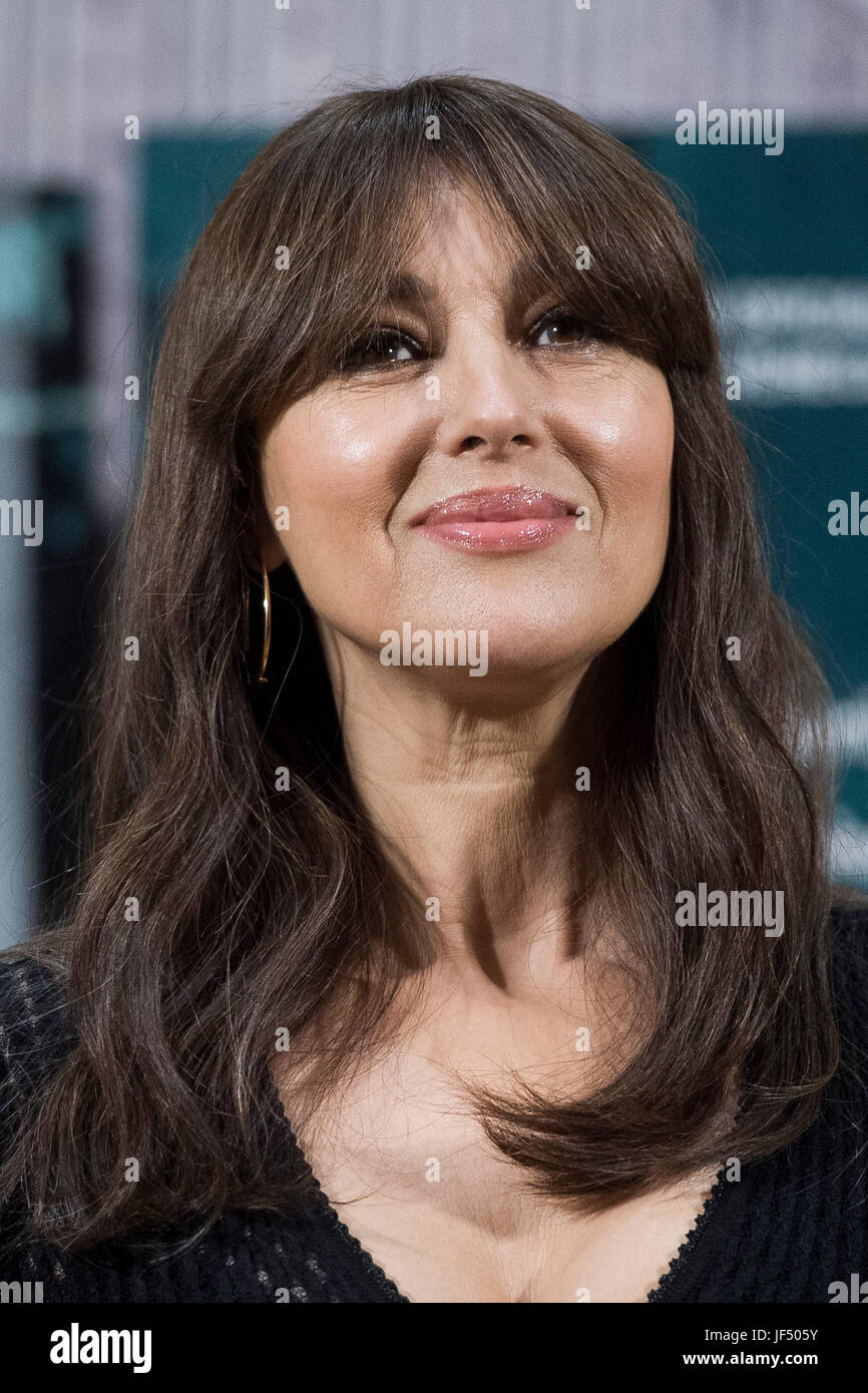 Actress Monica Bellucci During The Photocall Of The Film En