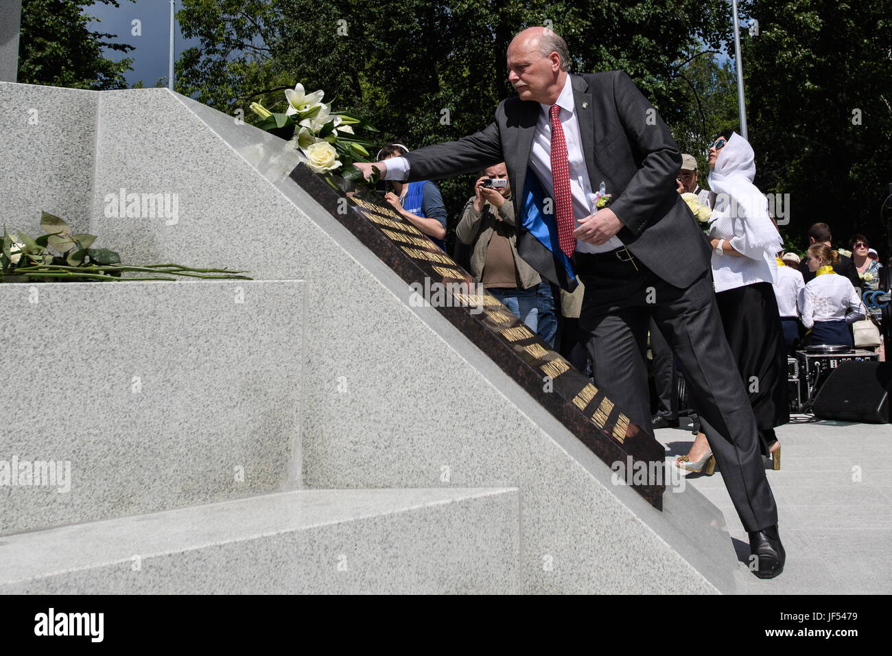 Sverdlovsk Region, Russia. 29th June, 2017. Pavel Kulikovsky, a descendant of Russian Emperor Alexander III, attends - Stock Image