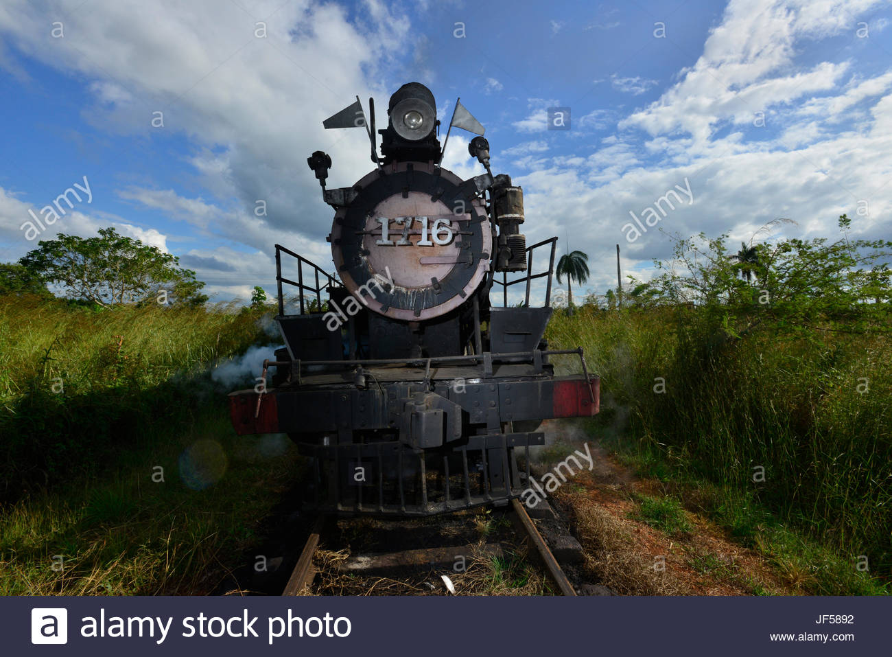 A 1913 steam locomotive that was used in the transport of sugarcane. - Stock Image
