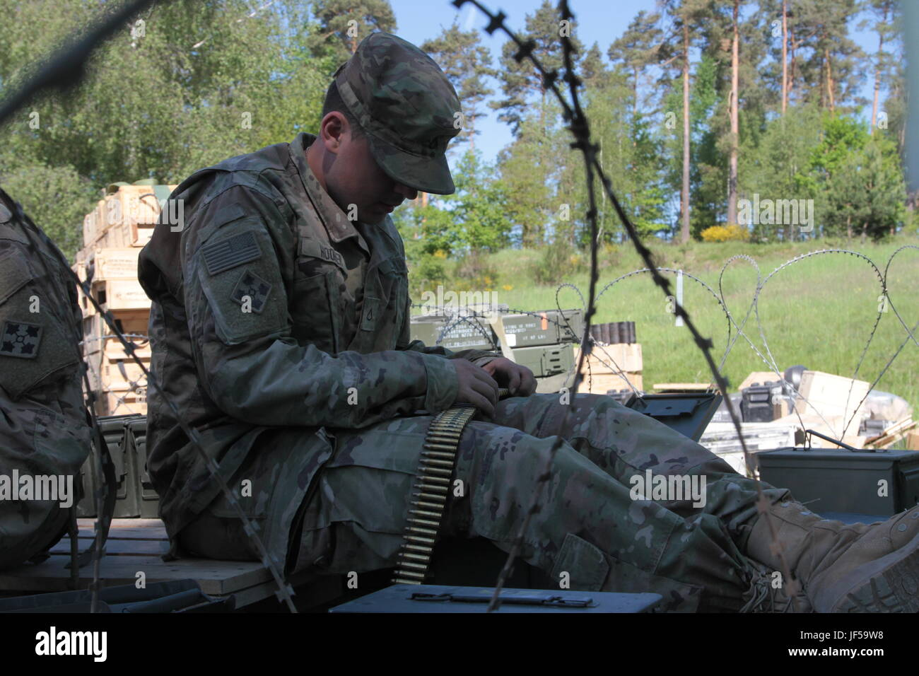 A U S  Army soldier from the 2nd Battalion, 12th Infantry Regiment