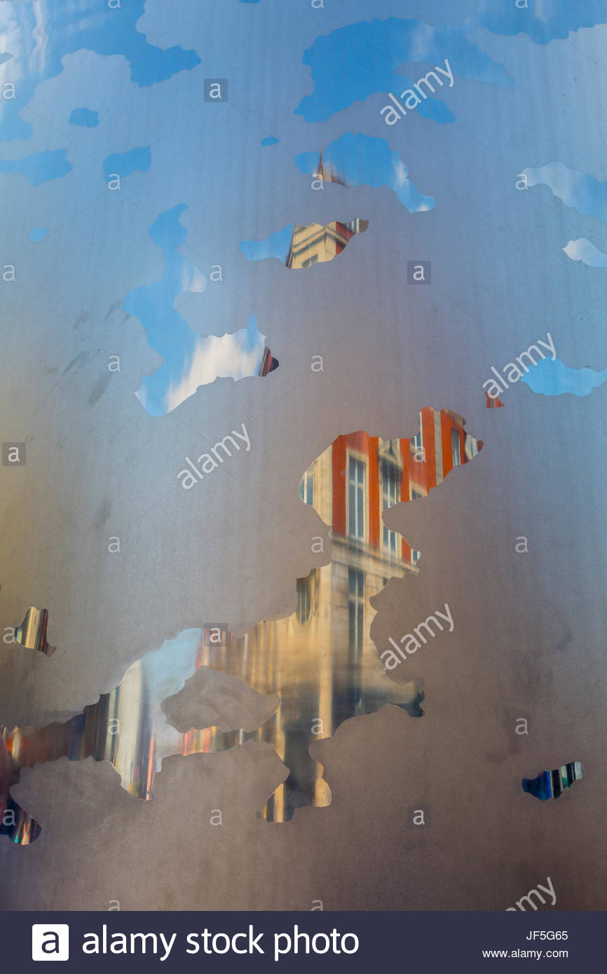 Spire of Dublin, near General Post Office on O'Connell Street - Stock Image