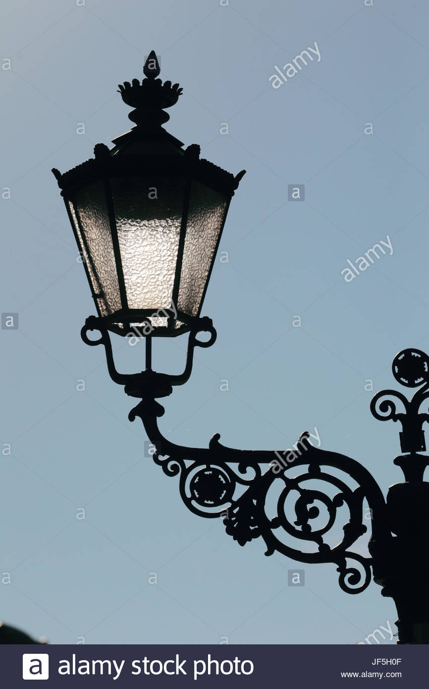 One of the lamps on the Victory Column, a monument designed by Heinrich Strack, after 1864 to commemorate the Prussian - Stock Image