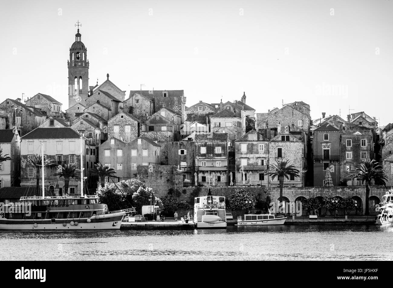 Korcula in Croatia - Stock Image