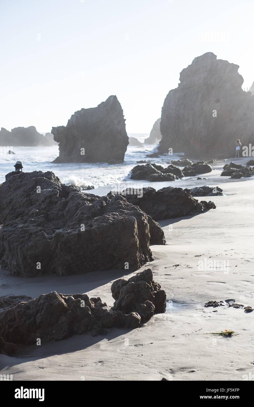 Malibu beach Stock Photo