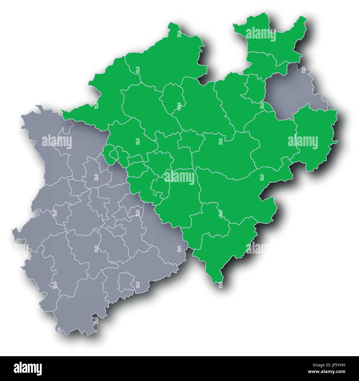 card, cathedral, Ruhr district, westphalia, north rhine-westphalia, city, town, - Stock Image
