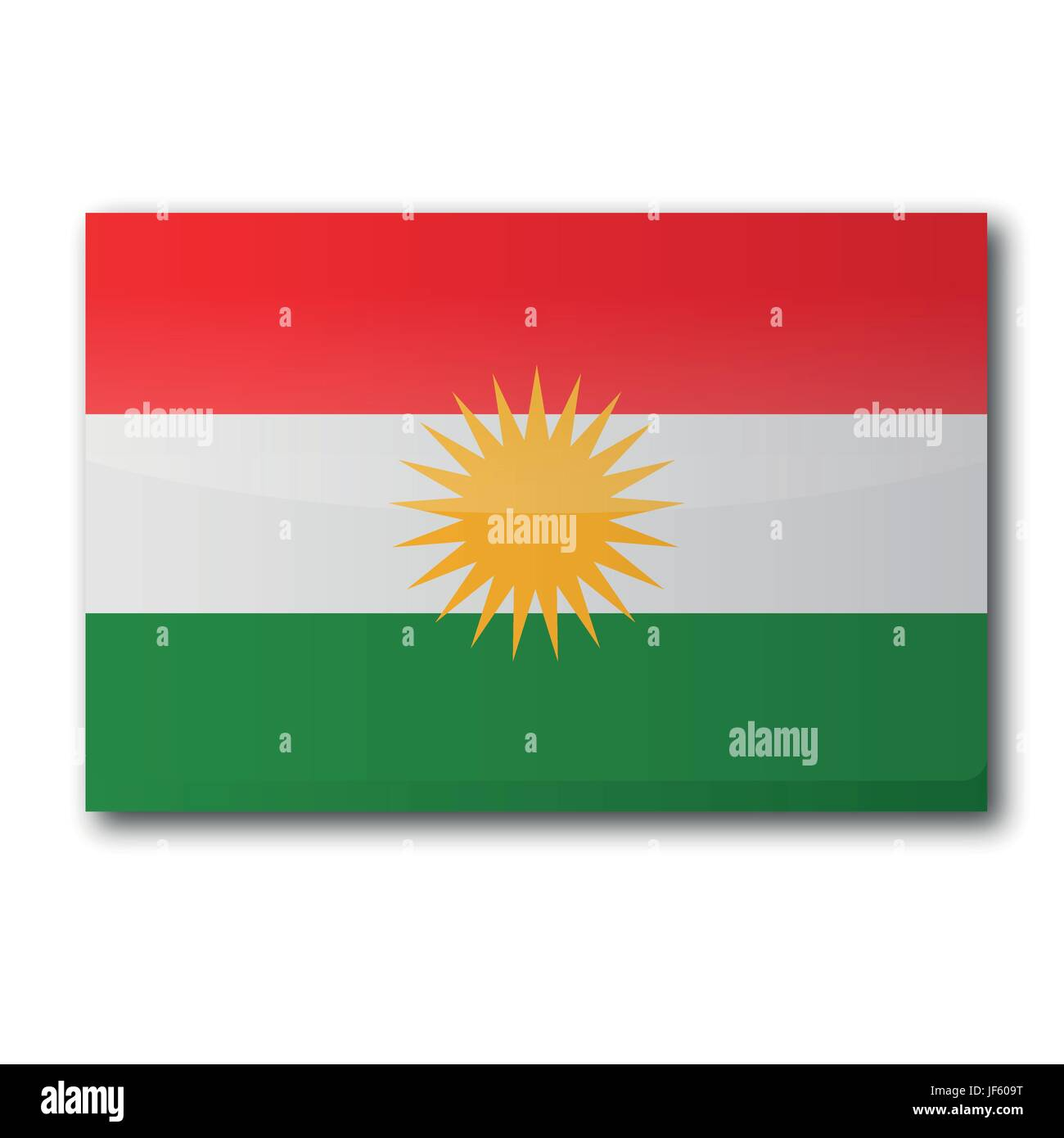 region, autonomous, kurdish, asia, euro, freedom, liberty, flag, border, - Stock Image