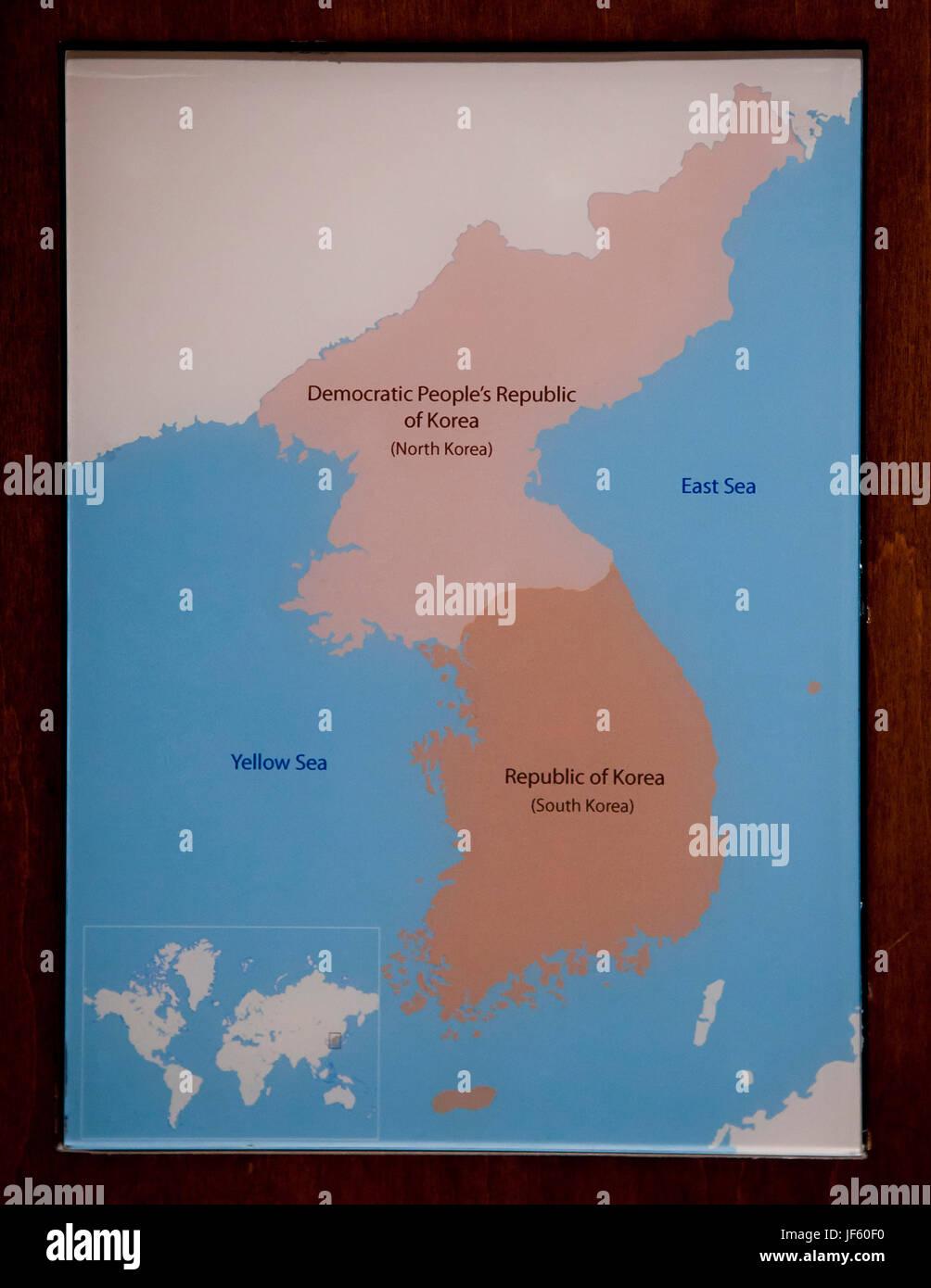 Image of: Simple Map Of Korean Peninsula North Korea South Korea Stock Photo Alamy