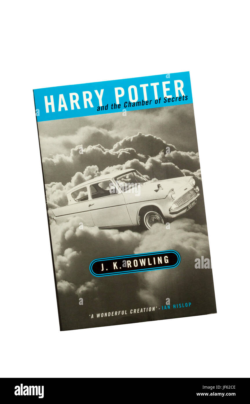 Paperback copy of Harry Potter and the Chamber of Secrets by J.K. Rowling. Second book in the series, published - Stock Image