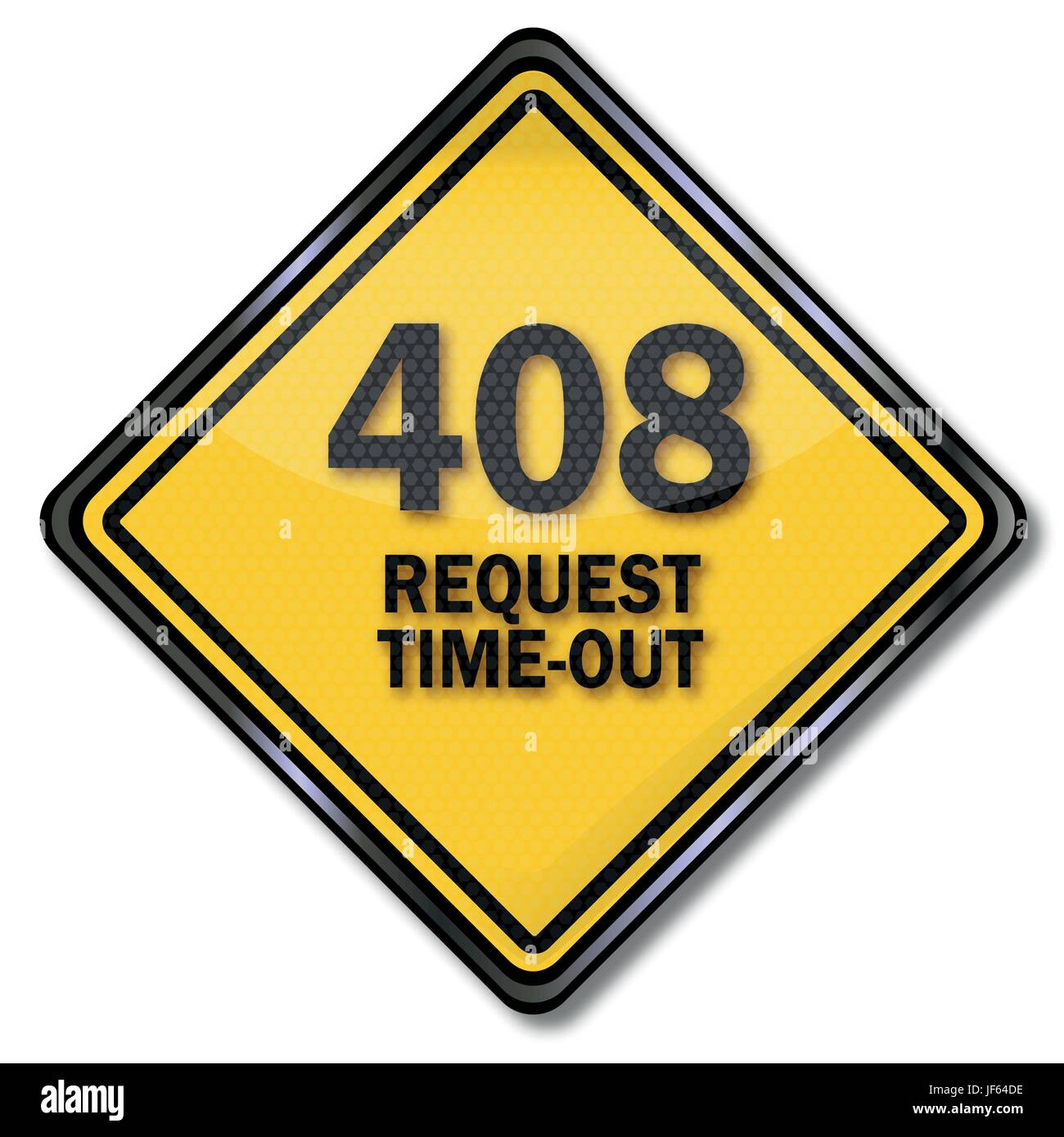 computer plate 408 request time-out - Stock Vector