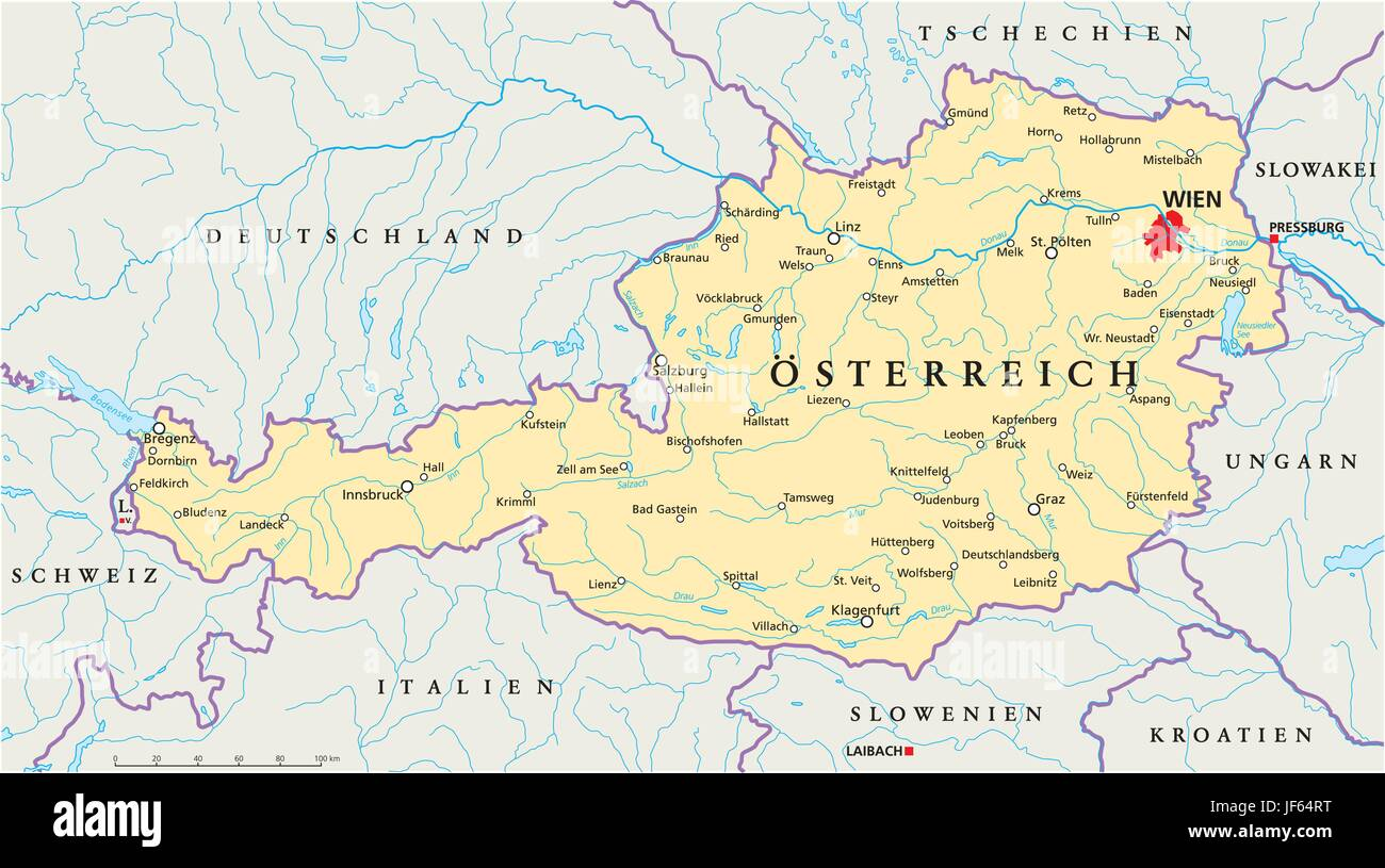 vienna, austria, danube, cartography, map, atlas, map of the ...