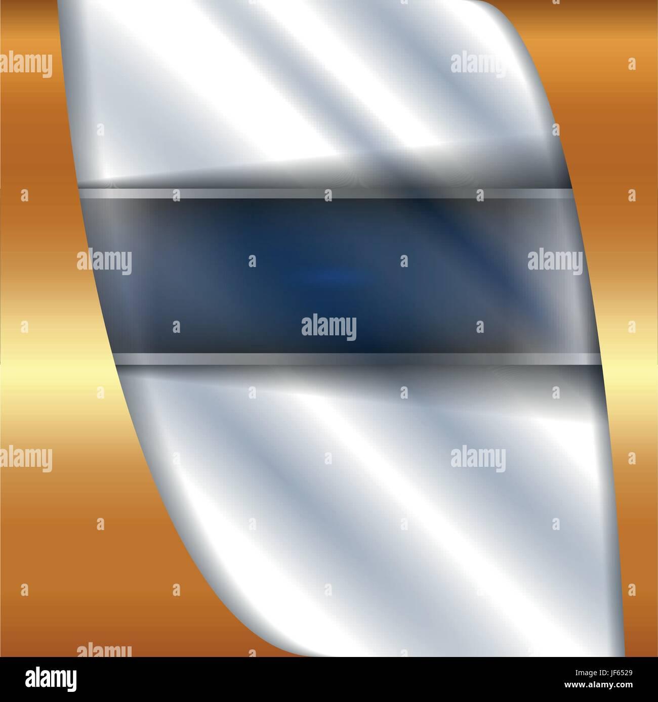 lines, banner, mesh, metallic, curve, shaddow, shadow, gold, lines, metal, - Stock Vector