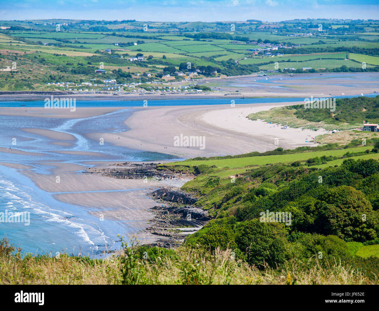 Poppit Sands, a beach near Cardigan in West Wales sits on the Teifi Estuary Stock Photo