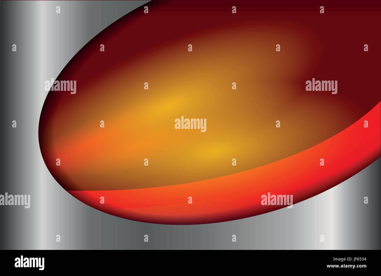 arc, blurred, gradient, metallic, curve, shaddow, shadow, orange, arc, steel, - Stock Vector
