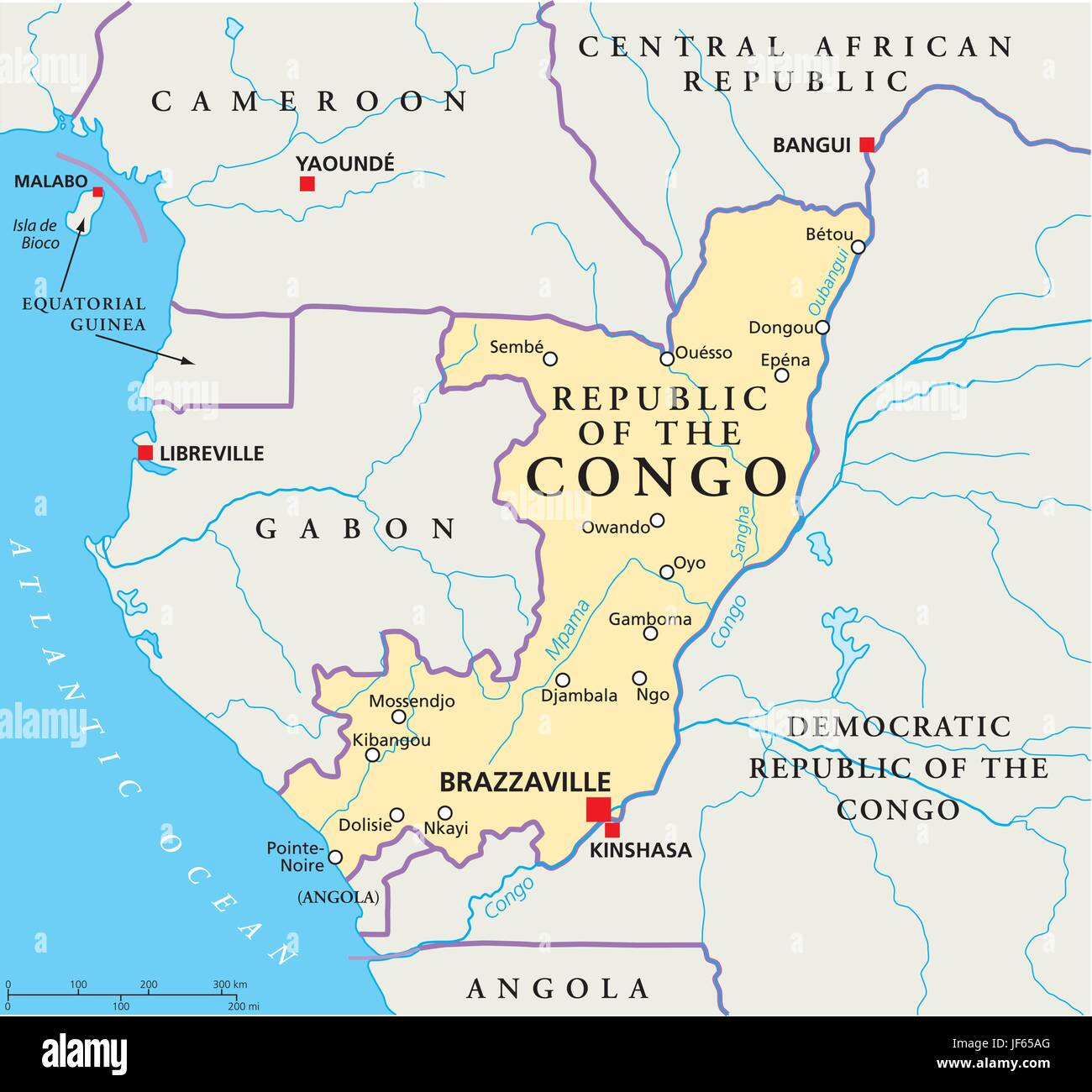 Congo Map Atlas Map Of The World Travel Africa Atlantic Ocean