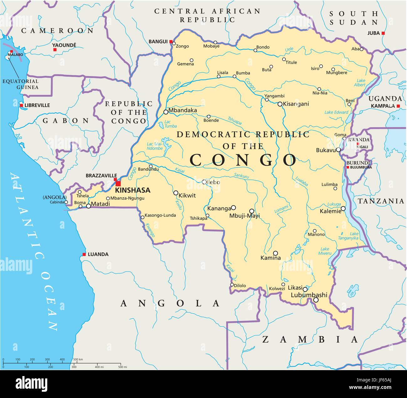 congo zaire map atlas map of the world africa central country republic